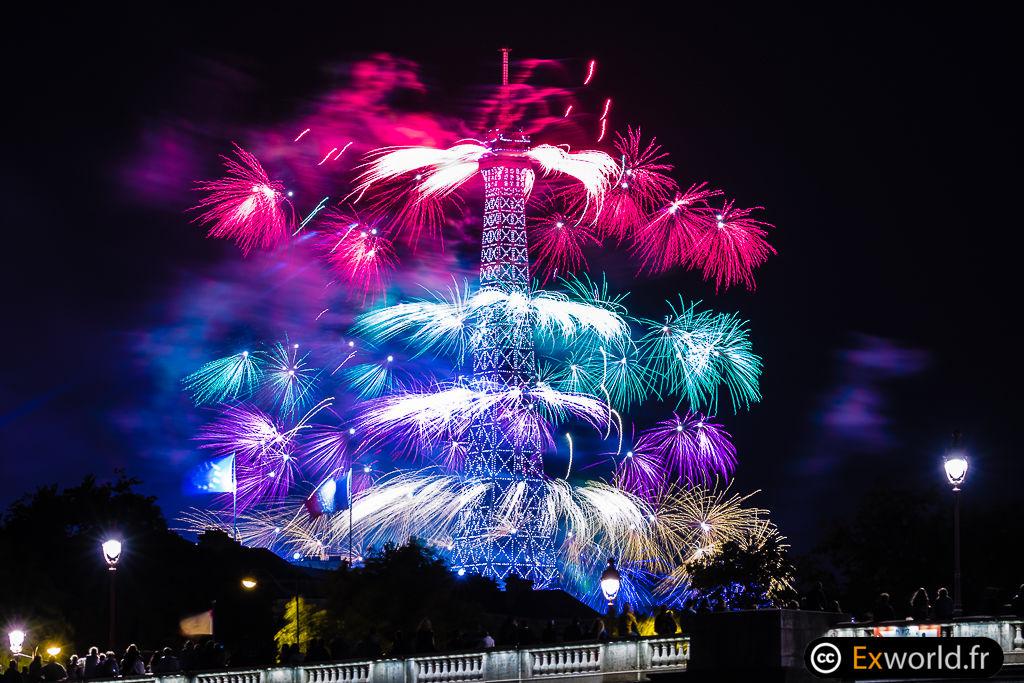 Bastille Day Fireworks Paris 2017
