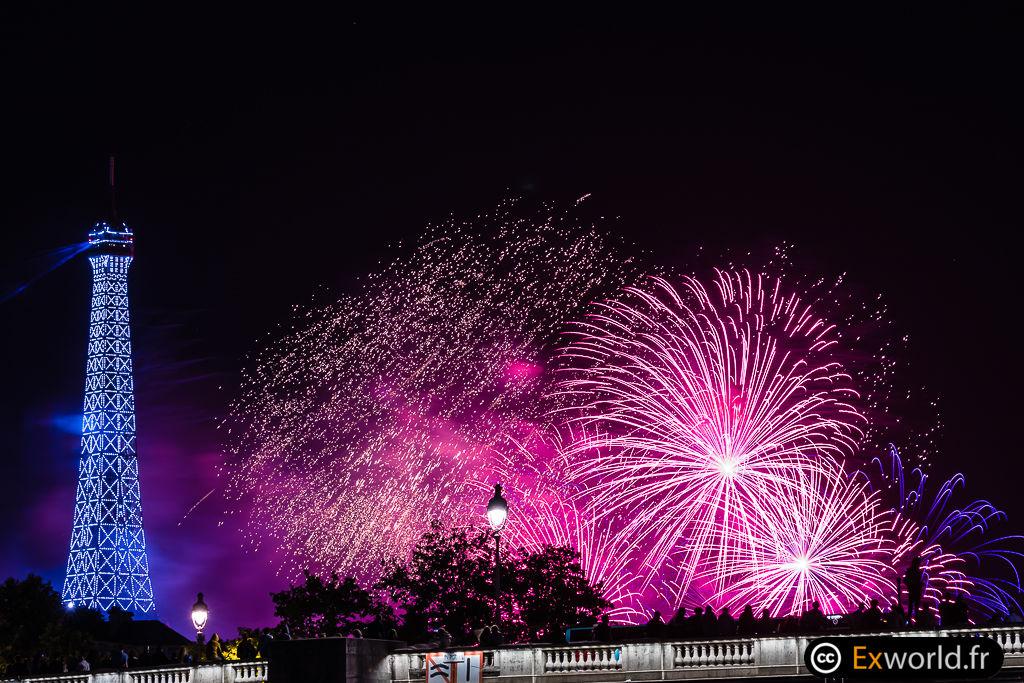 Eiffel Tower fireworks 2