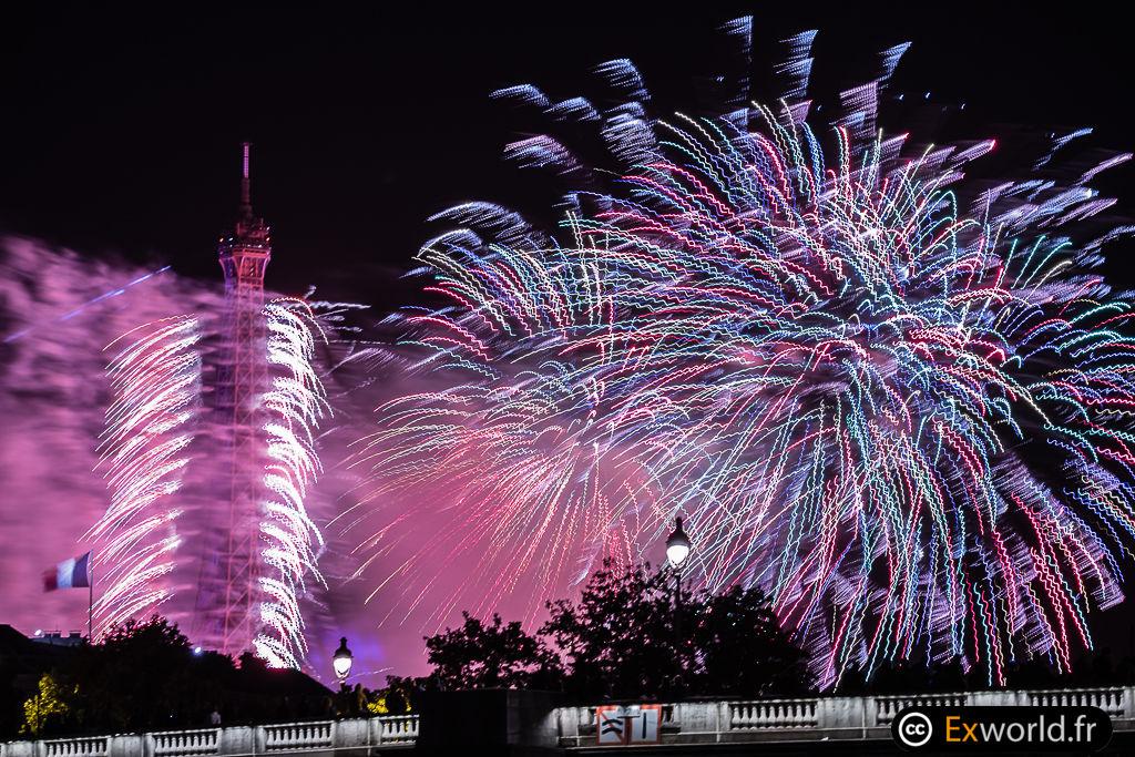 Eiffel Tower fireworks 3