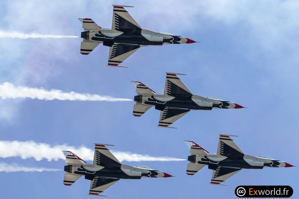 F16 Thunderbirds on Bastille Day 2017