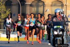 Peloton femmes Marathon de Paris 2019