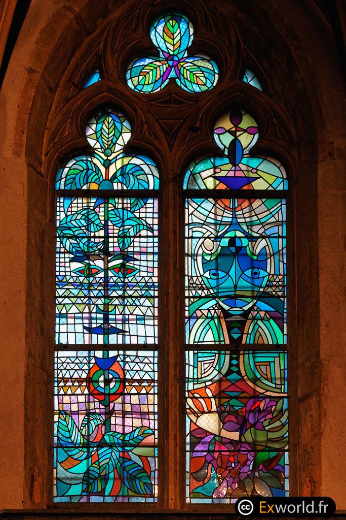 vitraux monsieur Cocteau III