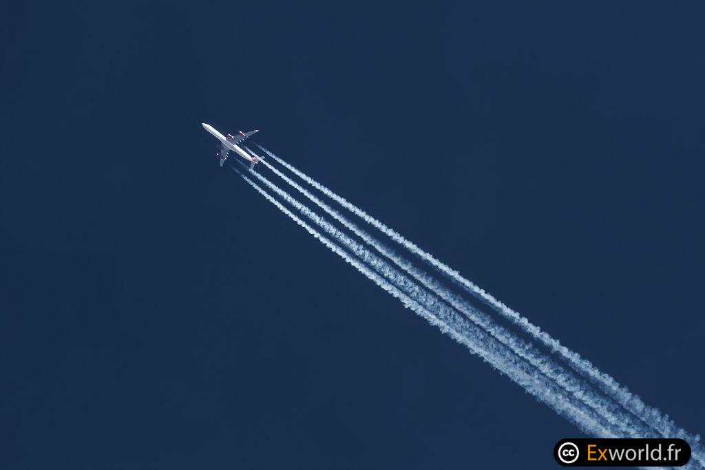 G-VNAP A340-642 Virgin Atlantic a big virgin atlantic thank you Livery
