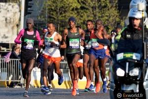 Peloton hommes Marathon de Paris 2019